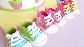 Fondant Baby Shoes video tutor…