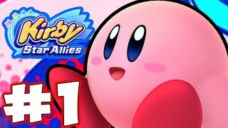 Kirby Star Allies - Gameplay Walkthrough Part 1 -  Dream Land!