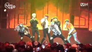 [MPD직캠] 방탄소년단 직캠 불타오르네 Fire BTS  Fancam @엠카운트다운_160512