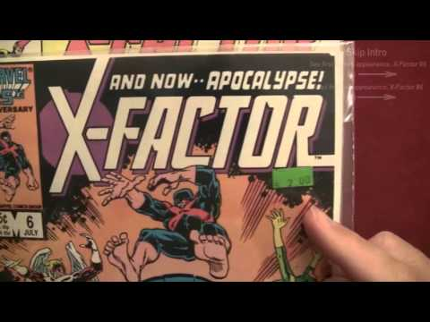 Reading Comics: First Appearances of Apocalypse, X-Factor #5, #6, X-Men, 1986 [ASMR, Male]