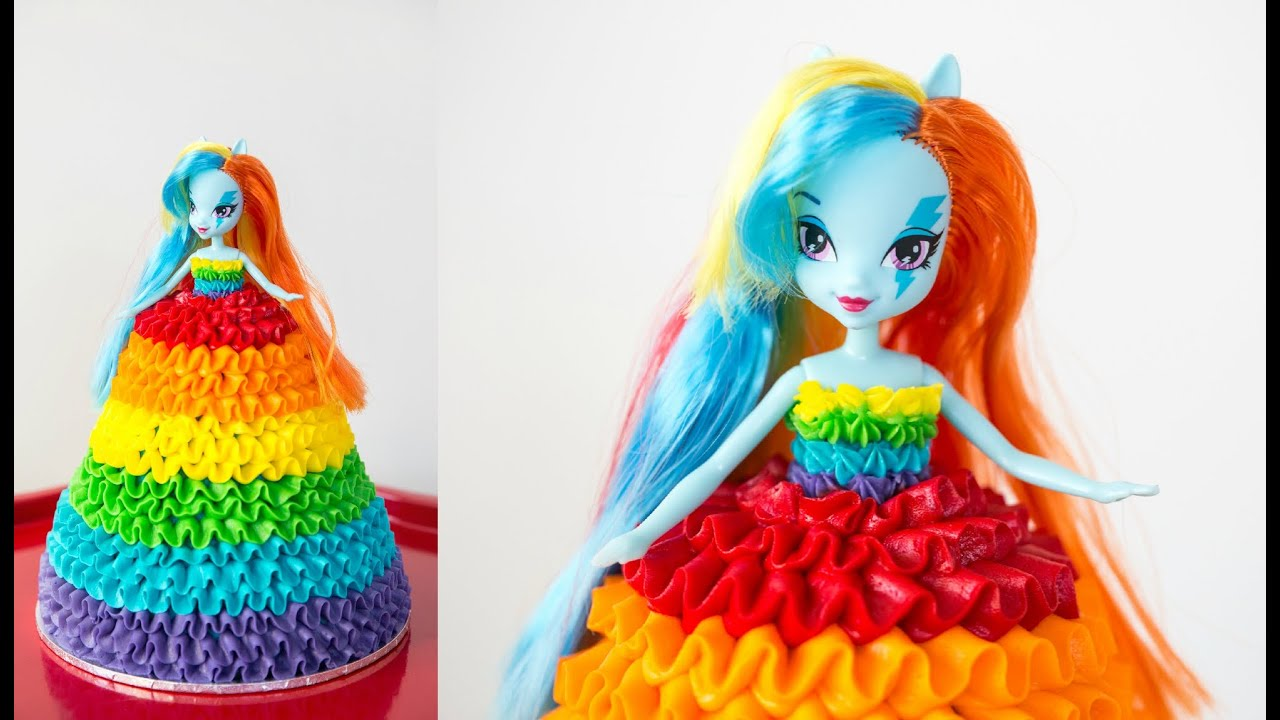 Rainbow Dash  My Little Pony Doll Cake - CAKE STYLE - YouTube b7c6575942