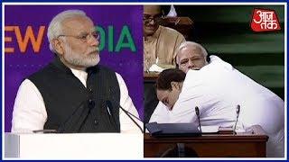 PM Modi Mocks Rahul Gandhi's Bear Hug Yet Again In UP Rally   Breaking News