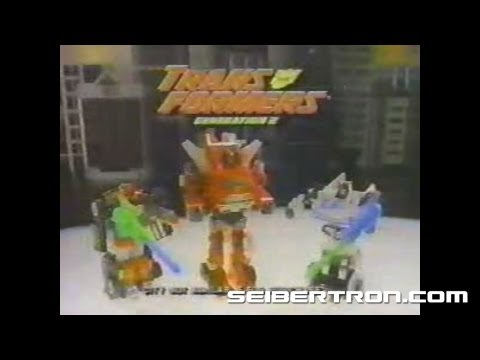 Transformers G2 Autobots Cars and Decepticon Jets commercial 1993 #2