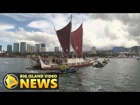 Thousands Cheer As Hōkūleʻa Returns Home To Hawaii (Jun 17, 2017)