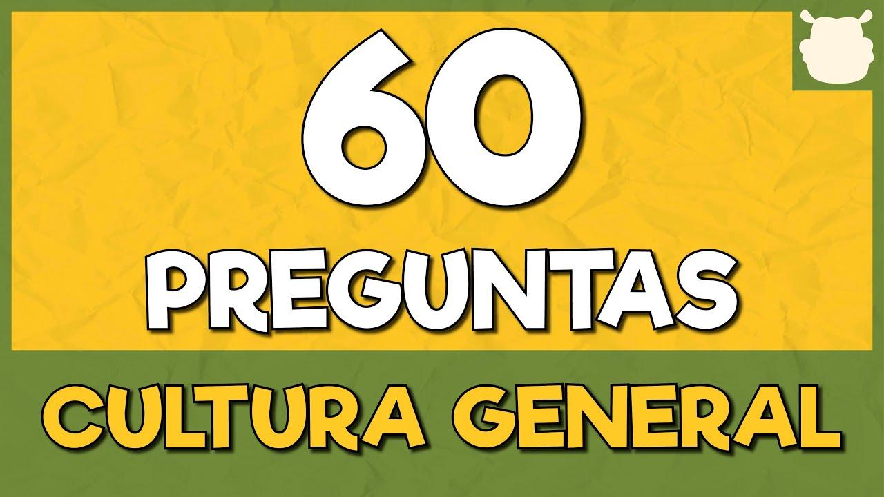 60 PREGUNTAS de CULTURA GENERAL 😛 (Prueba con opciones)