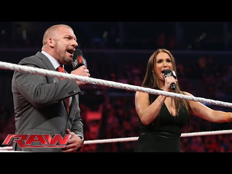 Triple H & Stephanie lead the WWE Universe in