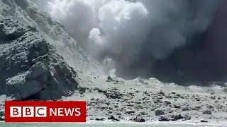 The moment after eruption hit New Zealand tourist site - BBC News