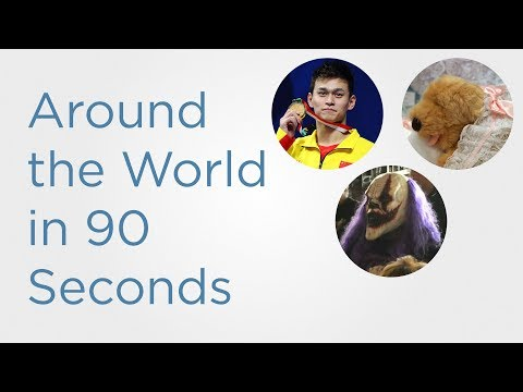 In 90 Seconds: China demands national anthem replayed and Mexican wrestlers attend church together