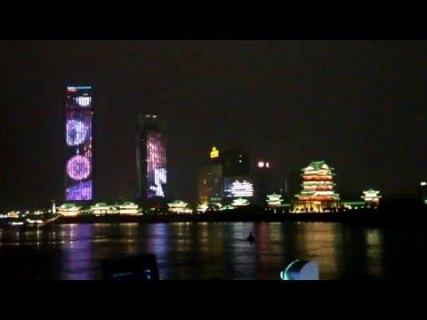 Nanchang Ruxi River (南昌泸溪河) Skyscraper animated LED show