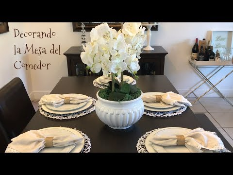 IDEAS PARA DECORAR TU MESA DE COMEDOR/DECORANDO LA CASA/DECORACION ...