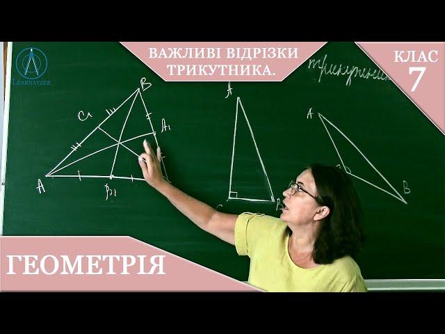 7 клас. Геометрія. Важливі відрізки трикутника.