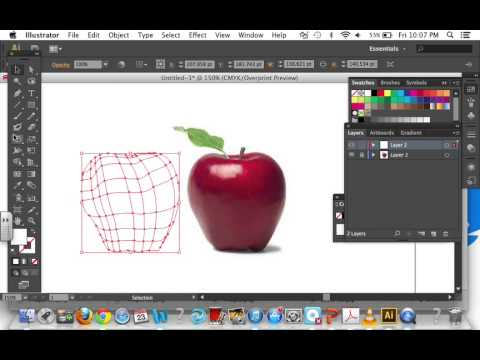 Adobe Illustrator: Using the mesh tool (Creating an apple)