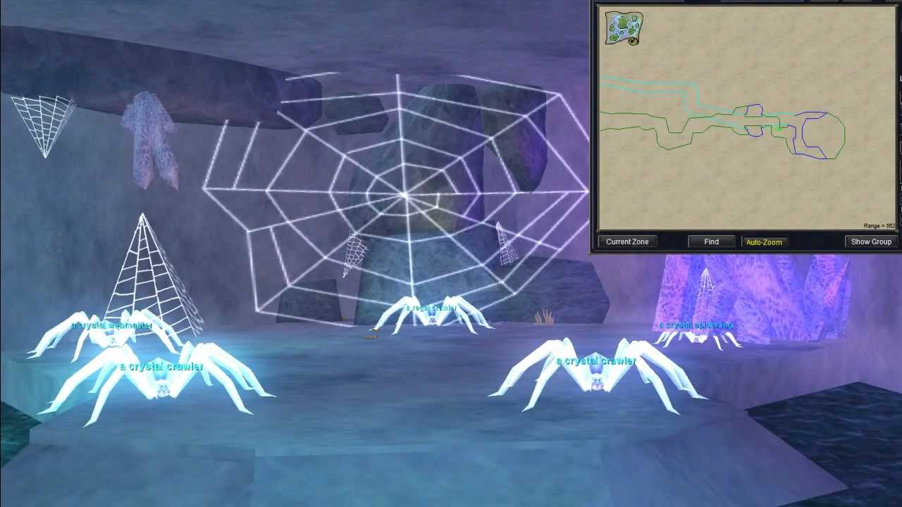 EverQuest Rain of Fear - Zone Run Through of Crystal Caverns: The Fragment  of Fear