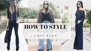 How To Style: Flares & Wide Leg Jeans + LOOK BOOK