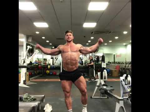 Craig Morton posing in the gym