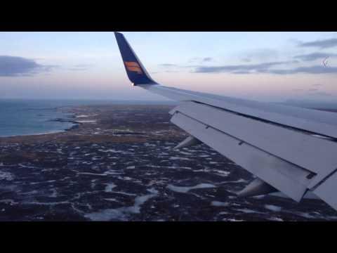 Landing in Reykjavik Keflavic KEF Airport - Iceland