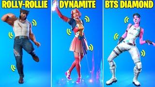 These Legendary Fortnite Dances Have Voices! (I'm Diamond, Dynamite, Rollie, BTS Dances TikTok..)