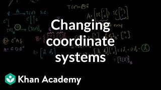 Changing coordinate systems to help find a transformation matrix | Linear Algebra | Khan Academy
