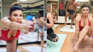 Rakhi Sawant Amazing Yoga Exposed Assets 2018 ||  Rakhi Sawants Hot Yoga Workout 2018 Video