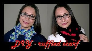 How To Crochet for Beginners #6 | Easy Ruffled Scarf