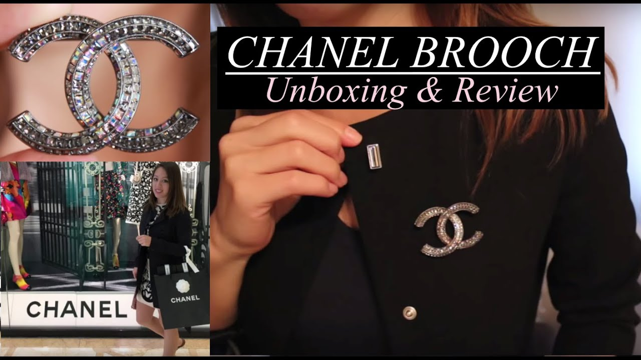 i hardware channel gold with crystal brooch chanel tradesy