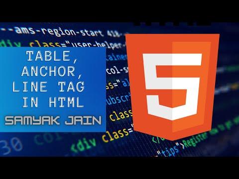 Learn HTML | Table,  Anchor, Line Tag | #3
