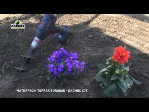 Matkap Için Toprak Burgusu Ile Fide Dikme - Kadmec X75