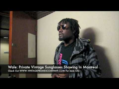 Wale's Vintage Sunglasses Private Appointment In Montreal