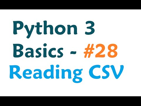 Python 3 Programming Tutorial - Reading from a CSV