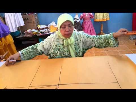 Teknik Menderaf Pola Baju Kurung Moden