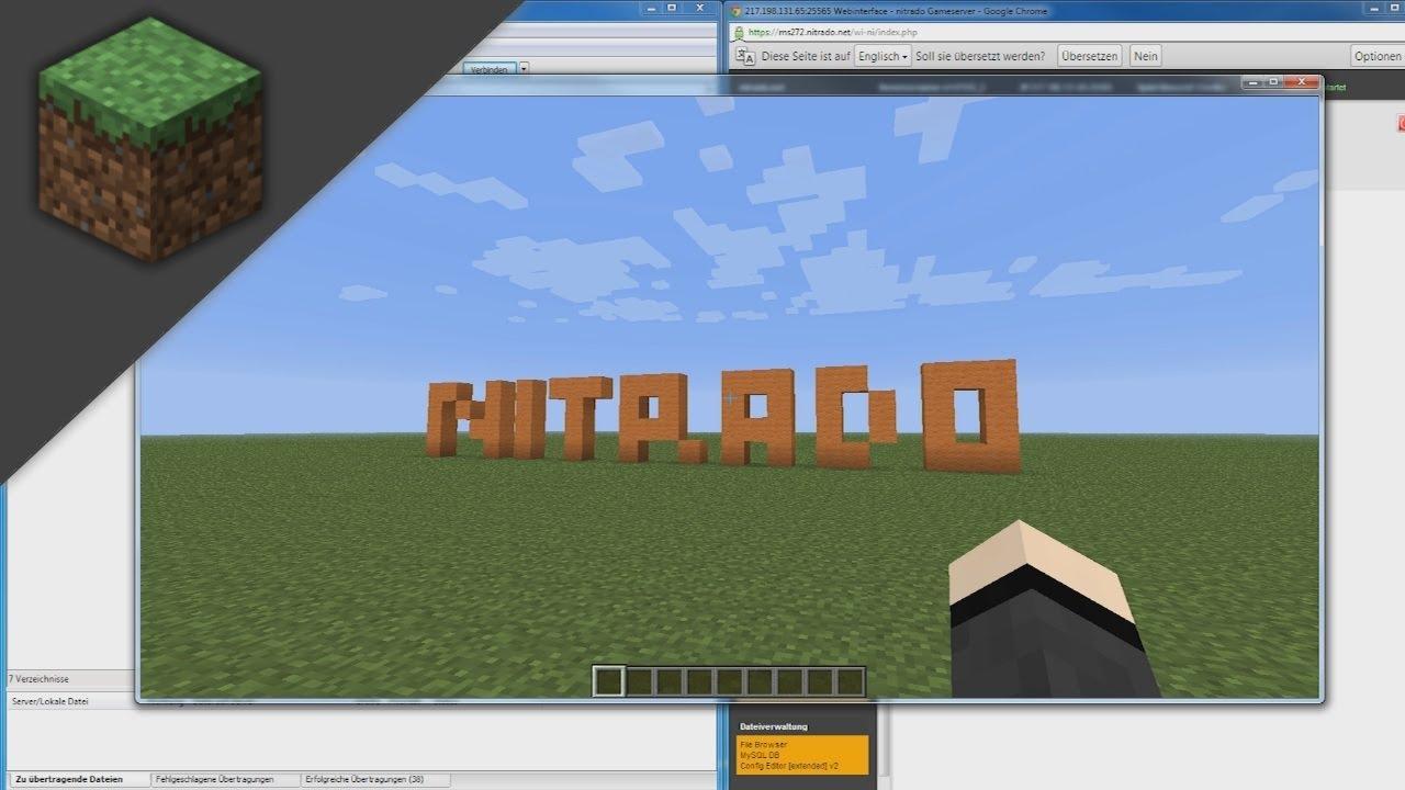 nitrado minecraft server welt