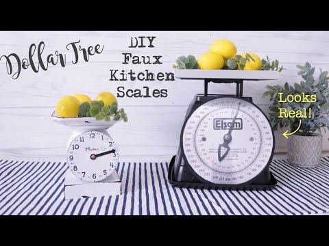 Dollar Tree DIY FARMHOUSE SCALE | Farmhouse Kitchen Scale