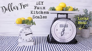 Dollar Tree DIY FARMHOUSE SCALE | Farmhouse Kitchen Scale