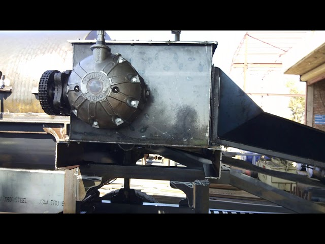 Double Fan Cutter Thresher During Work