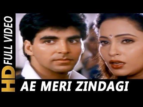 Ae Meri Zindagi Tere Bina | Kumar Sanu, Sadhana Sargam | Zakhmi Dil 1994 Songs | Akshay Kumar