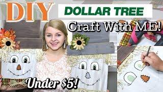 DIY Dollar Tree Scarecrow | FALL Decor DIY 2019 | FALL CRAFTING | Krafts by Katelyn