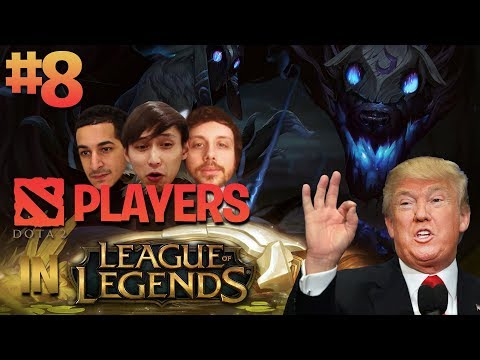 Dota 2 Pros In League Of Legends #8 (WON 4v5 WITH TRUMP HANDS)