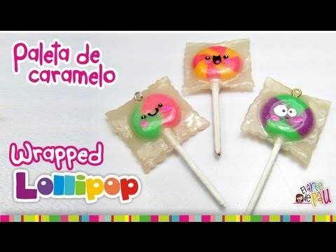 Wrapped Lollipop Polymer Clay Tutorial Paleta De