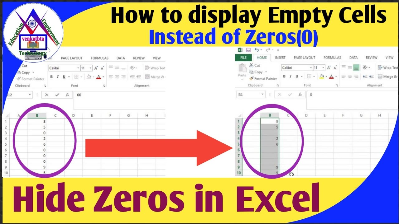How to display empty cell instead of zero value or hide zero value how to display empty cell instead of zero value or hide zero value in excel venkatbta ccuart Image collections