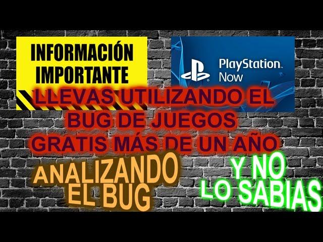 La verdad sobre el bug de 300 juegos gratis de ps now - es muy antiguo y ya lo hacias