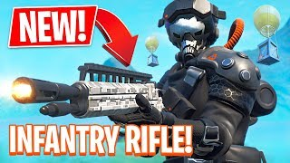 Fortnite NEW Legendary Infantry Rifle & Supersonic Pilot Skin! (Fortnite Battle Royale)
