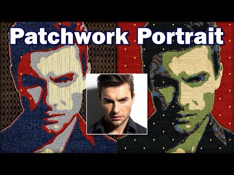 Photoshop Tutorial: How to Create a Fabric Patchwork Portrait of a Face from a Photo