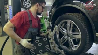 Volkswagen Touareg. Регулировка развал-схождения.