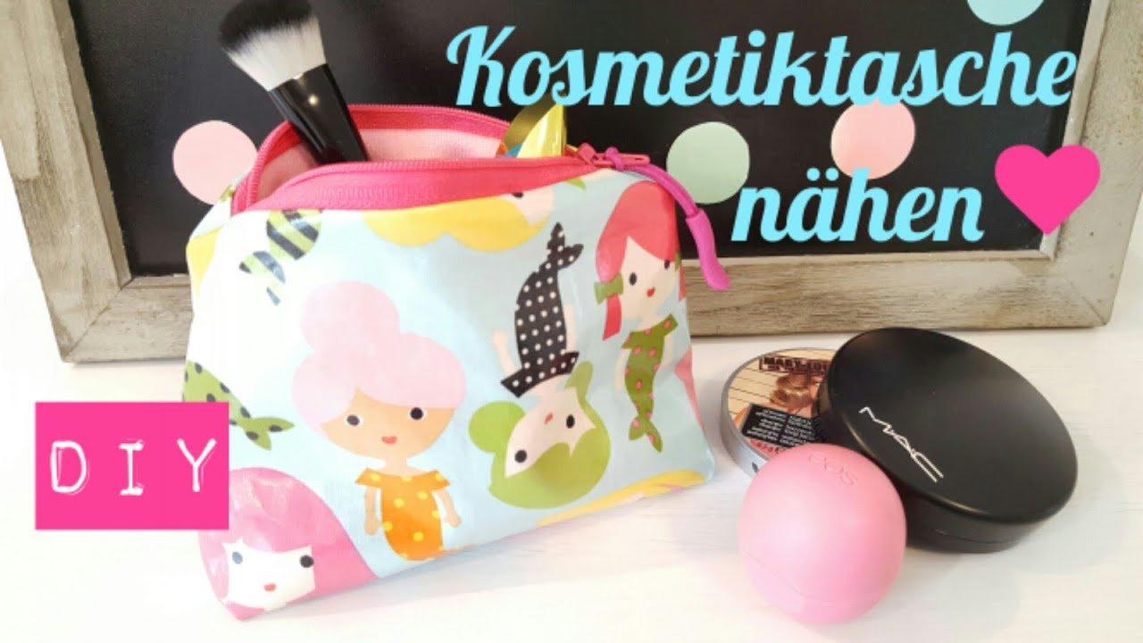 diy kosmetiktasche selber n hen schnittmuster diy kajuete youtube. Black Bedroom Furniture Sets. Home Design Ideas