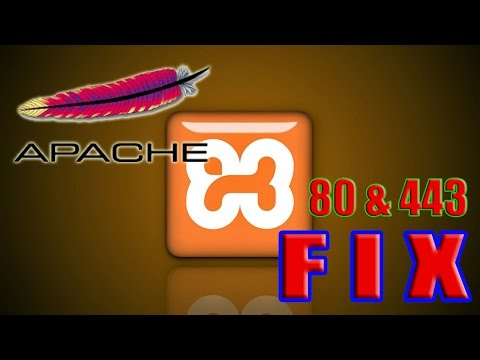 """How to fix XAMPP apache """"Unable to open process"""" Port 80 in use with PID 4 FIX 2016"""