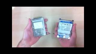 Replacing a laptop hard drive