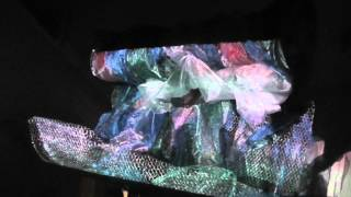 Sculpture & Installation - Projection experiments - The Great Wave