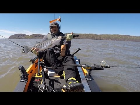 Kayak Fishing Tellers Point on the Hudson River