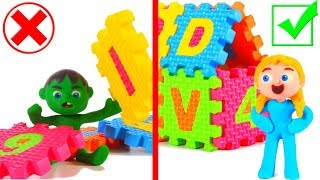 FUNNY KIDS BUILD A CASTLE FOR THE KING AND QUEEN ❤ Play Doh Cartoons For Kids