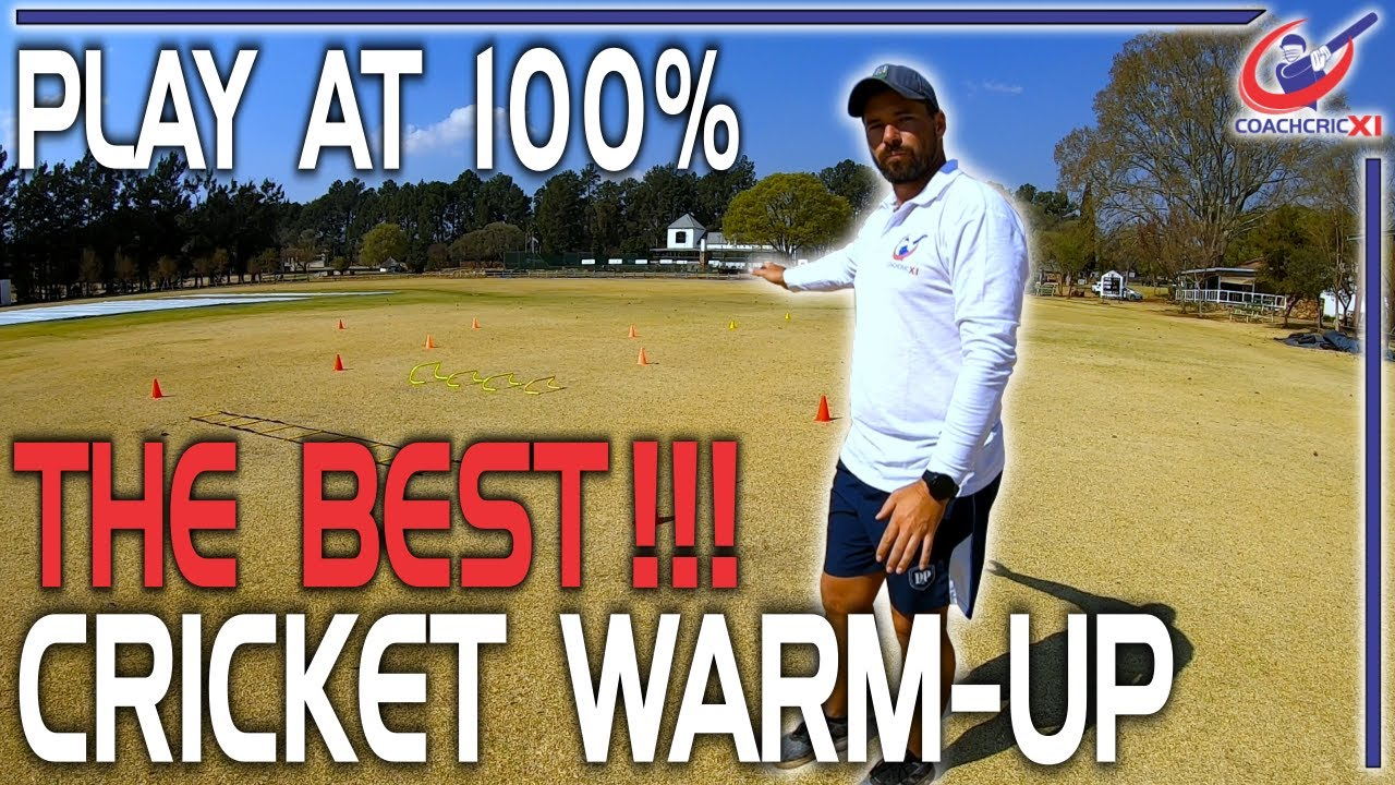 Professional Cricket Warm Up - Drills and Exercises